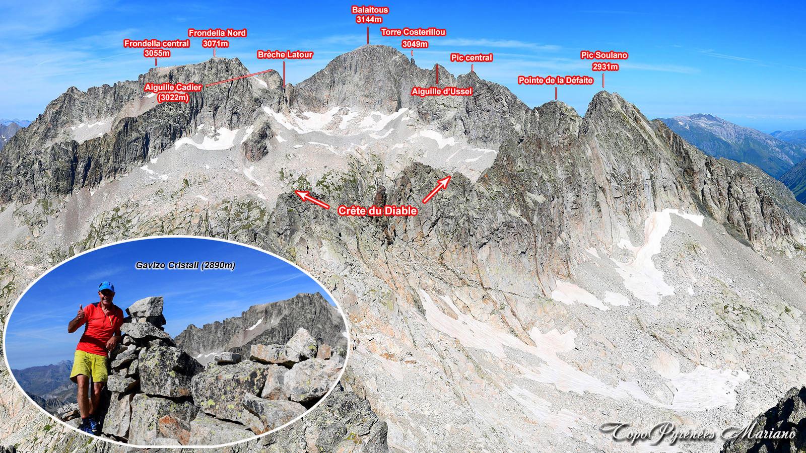 Randonnée Gavizo-Cristail (2890m) par le lac de Suyen