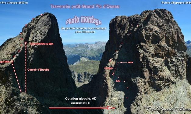Traversée Petit Pic Grand Pic d'Ossau 2884m