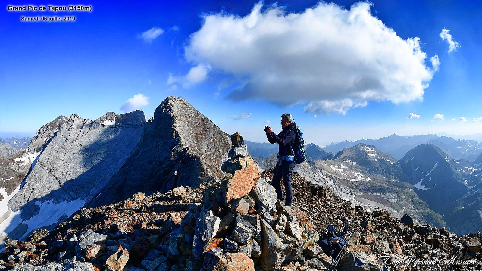 Randonnée Pic du Milieu (3130m) et le Grand Pic de Tapou (3150m)