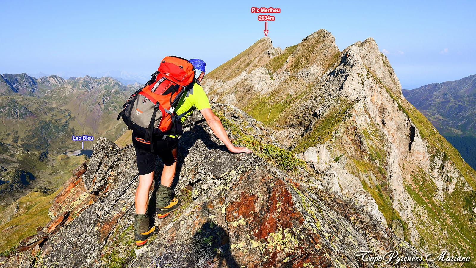 Randonnée au Pic Merlheu (2634m) par le Pic Crémat (2630m) et les crêtes d'Esquio d'Asou