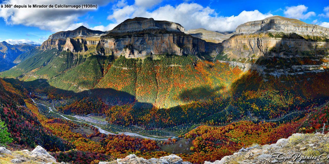 Panorama photos des 3 vires du Canyon d'Ordesa