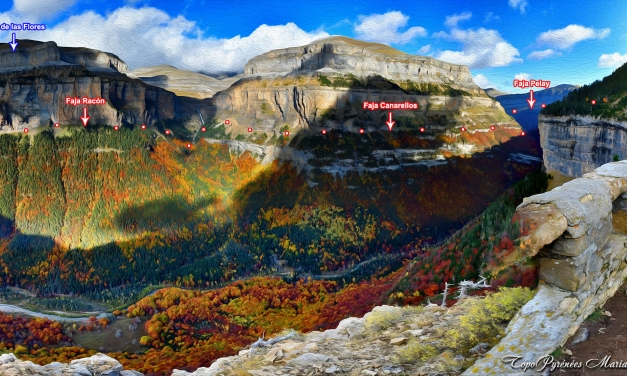 Randonnée Fajas Racón, Canarellos et faja Pelay (Canyon d'Ordesa)