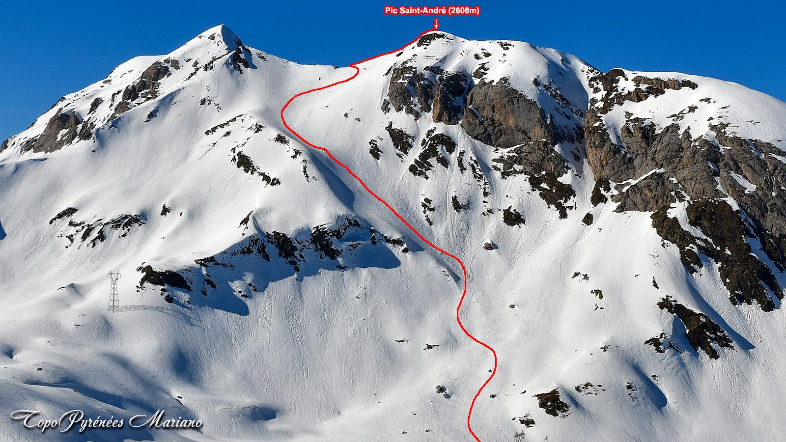 Sortie hivernale au Pic de Saint André (2608m)