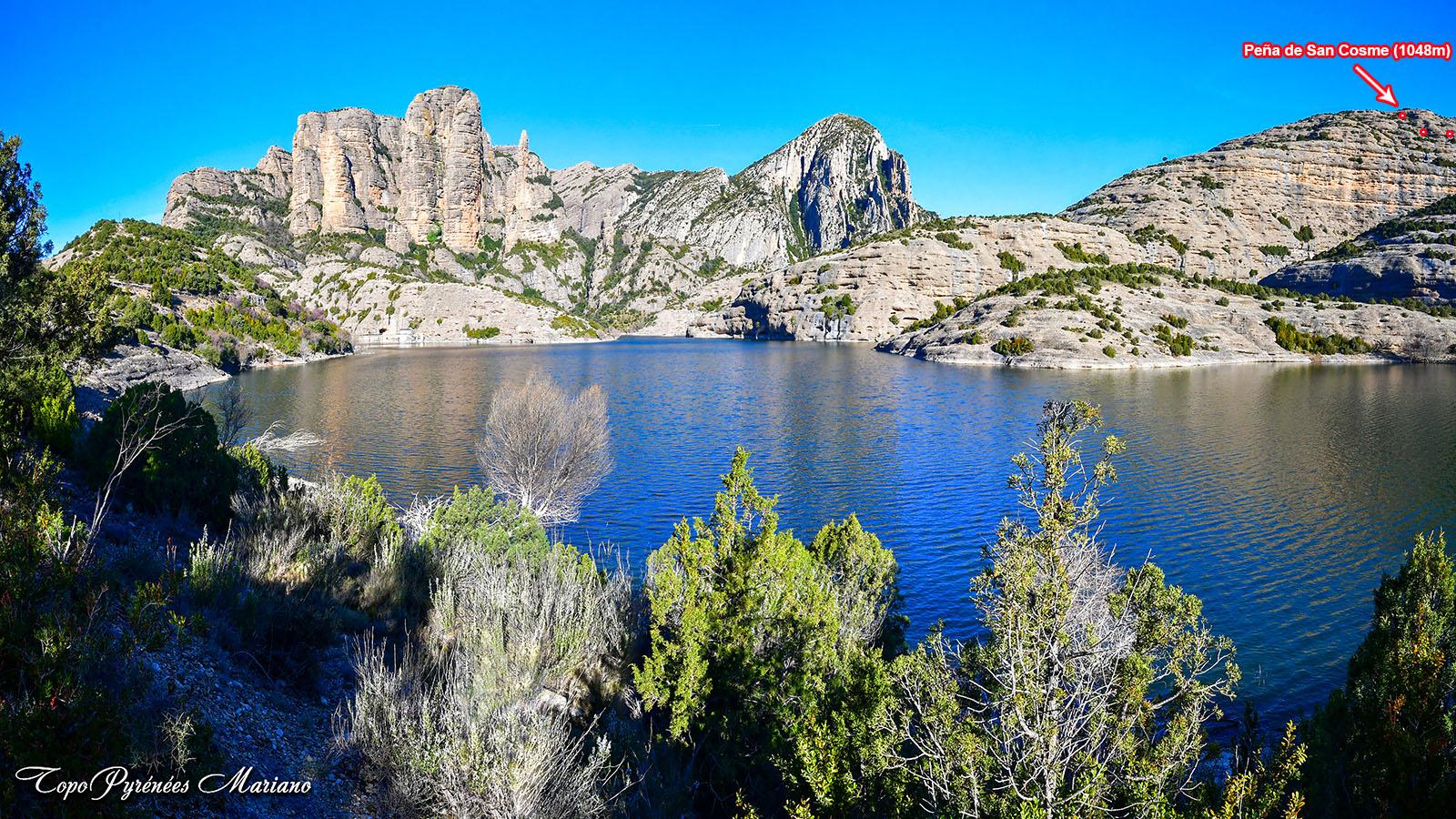 Randonnée Peña de San Cosme (1048m) y el Huevo (910m) depuis Vadiello