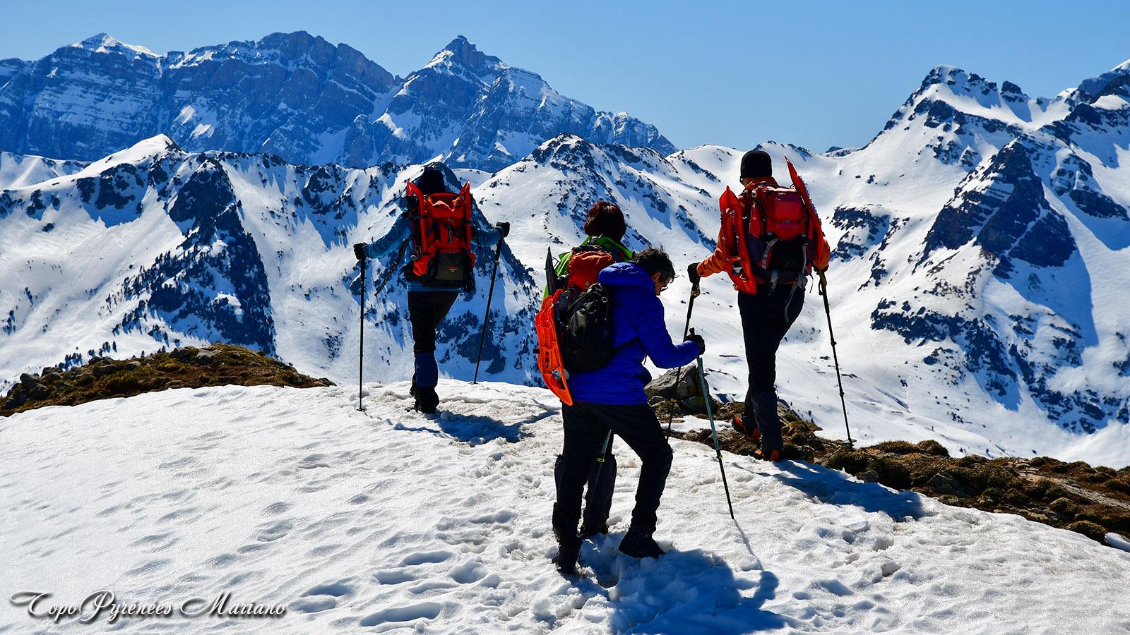 Sortie hivernale au Pic d'Estrémère (2165m) en aller/retour depuis le col du Pourtalet