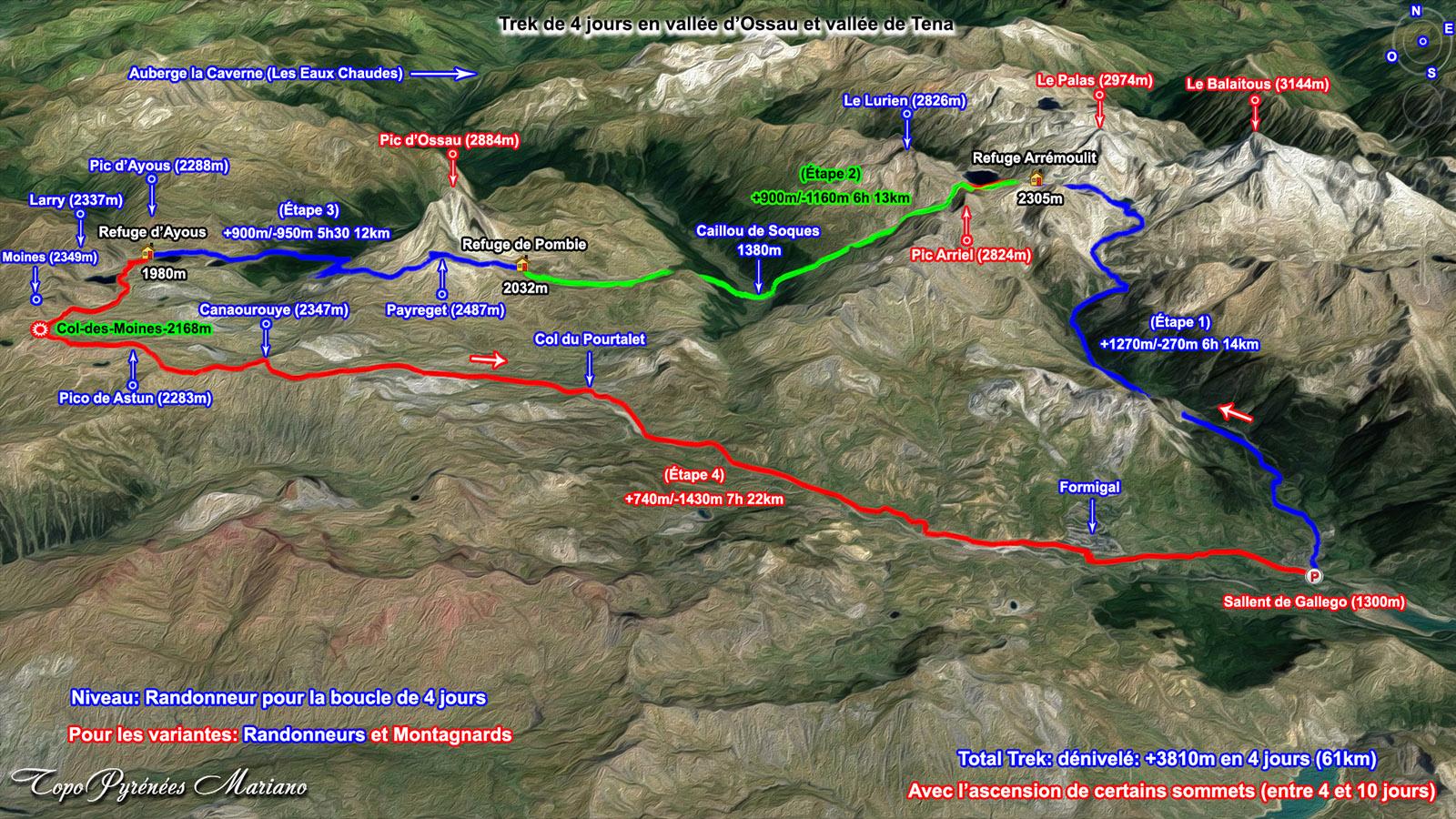 Circuit de 4 jours en vallée d'Ossau et vallée de Tena (Espagne)