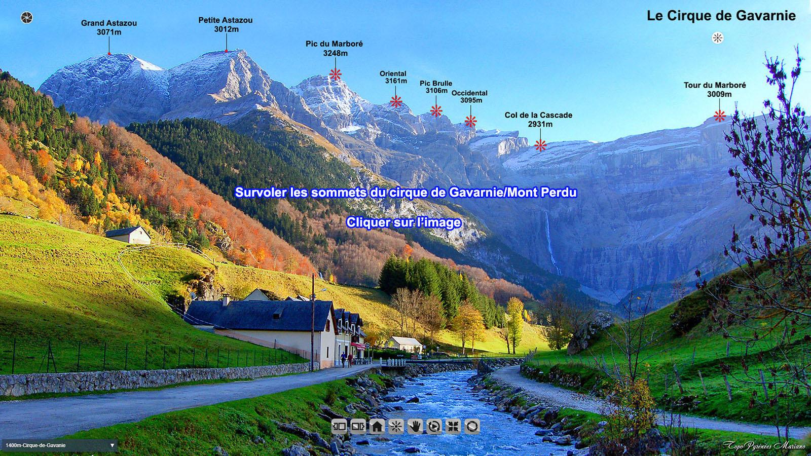 Cirque de Gavarnie/Mont Perdu vue d'en Haut !