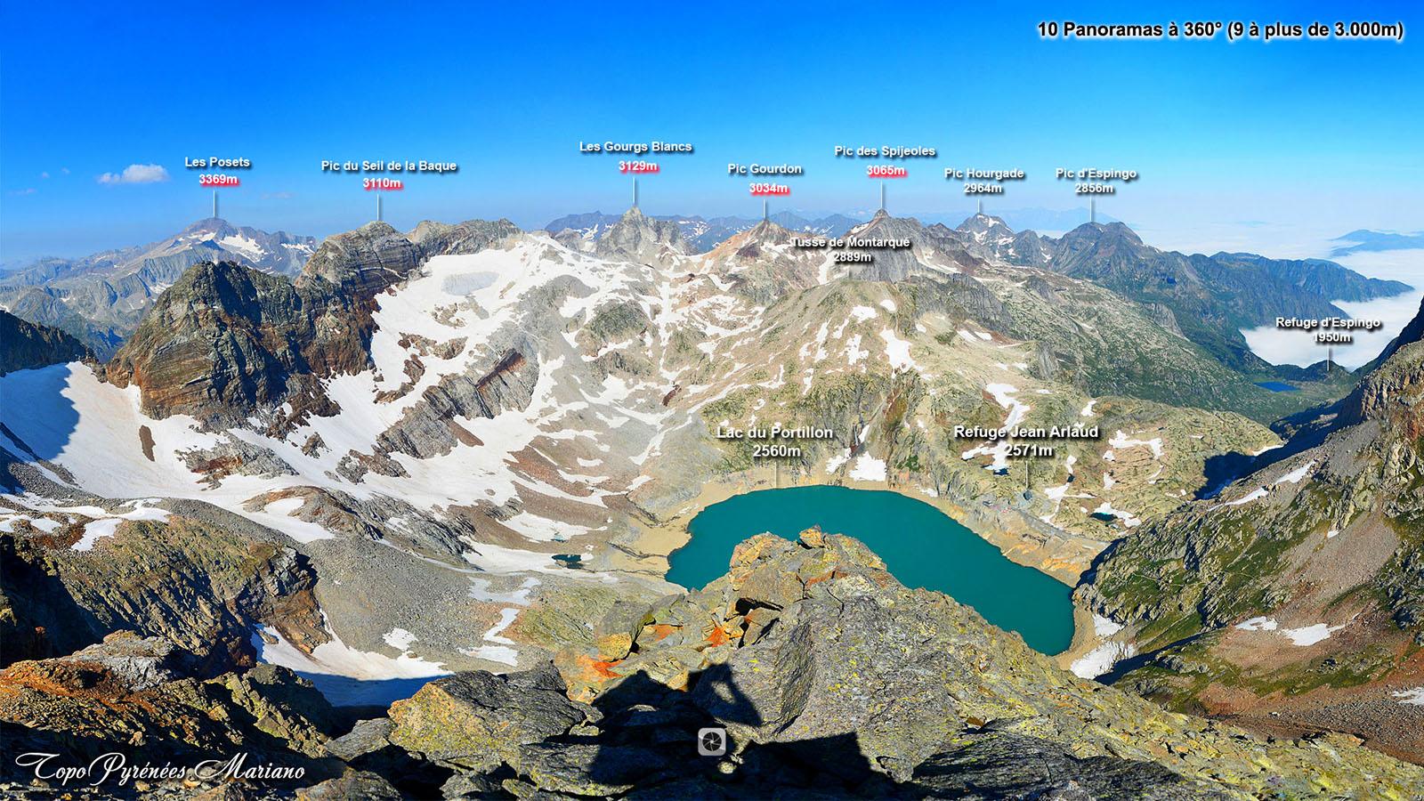 Panoramas à 360° sur les 3000 du Luchonnais