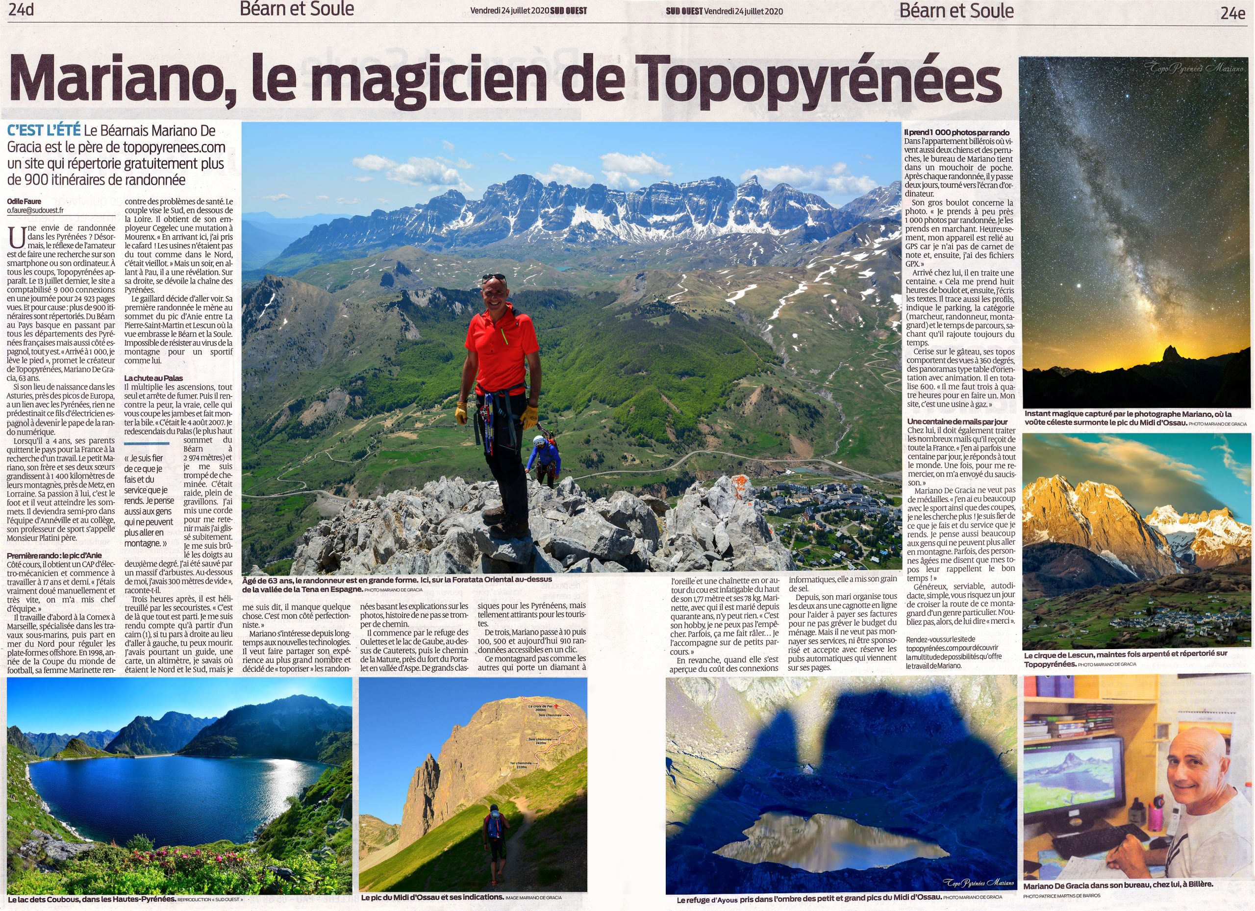 Mariano, le magicien de Topopyrénées (Journal Sud-Ouest)