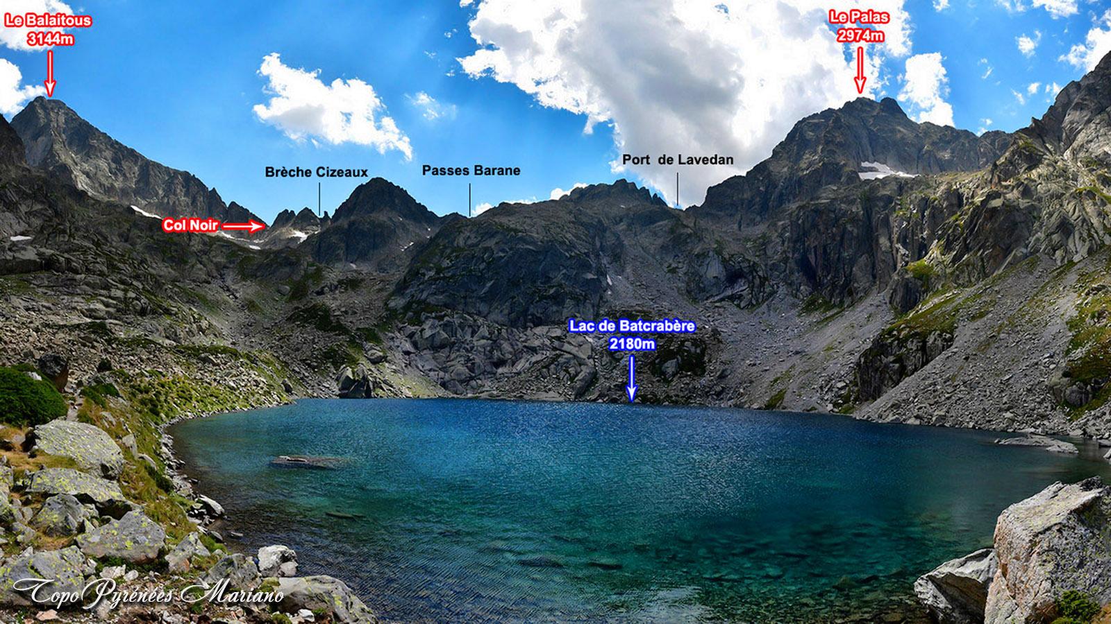 Refuge de Larribet (2065m) et Lacs de Batcrabère (2180m)